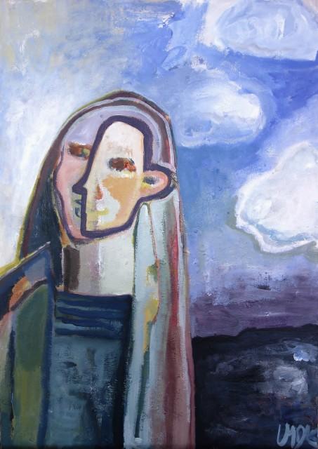 kvinde foran mørkt vand