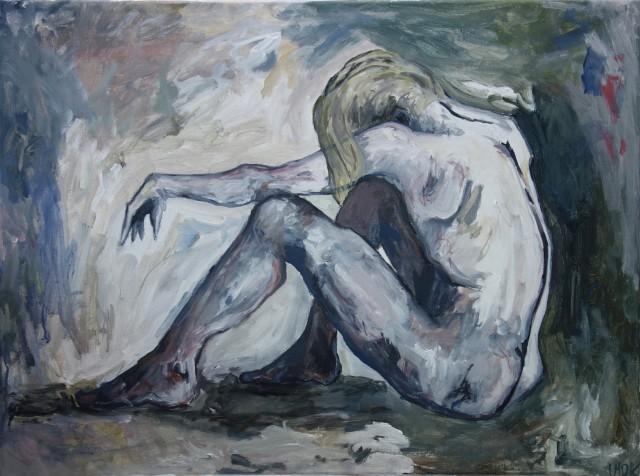 siddende kvinde